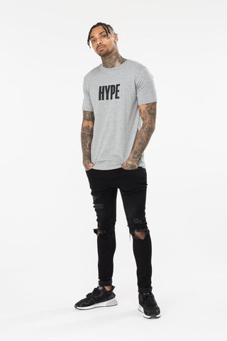 HYPE GREY BLOCK HYPE MENS T-SHIRT