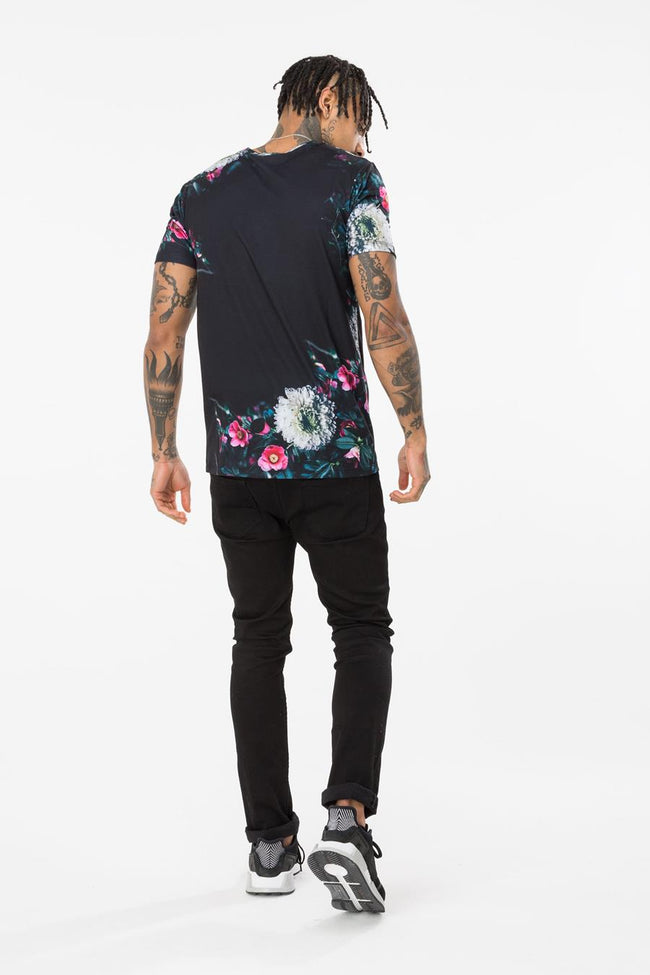 HYPE BLACK BORDER BOTANIC MENS T-SHIRT