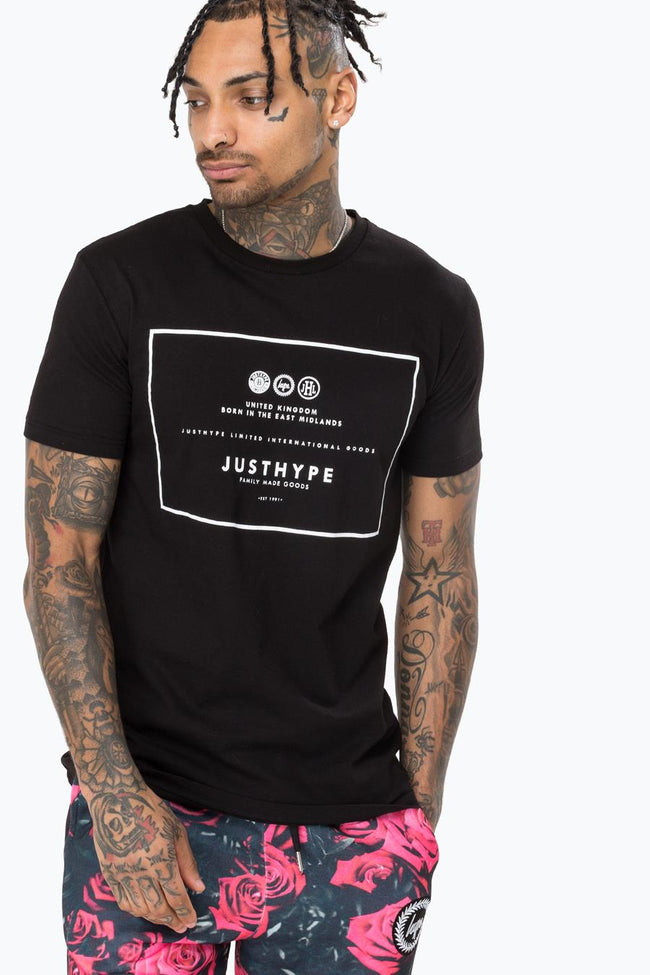 HYPE BLACK ROYAL MENS T-SHIRT