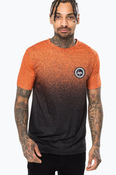 HYPE ORANGE SPECKLE FADE MENS T-SHIRT