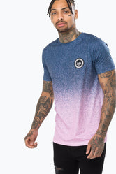 HYPE BLUE SPECKLE FADE MENS T-SHIRT
