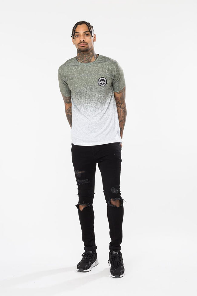 HYPE KHAKI SPECKLE FADE MENS T-SHIRT