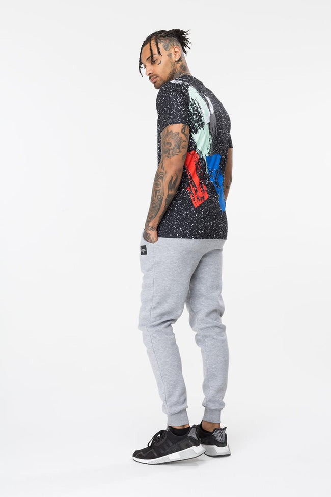 HYPE BLACK ARTIST SPECKLE MENS T-SHIRT
