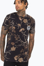 HYPE BLACK REAL CAMO MEN'S T-SHIRT