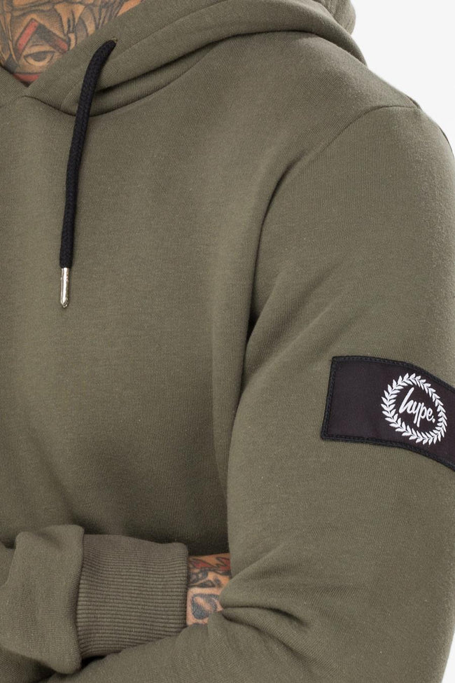 HYPE KHAKI INSIGNIA MENS PULLOVER HOODIE