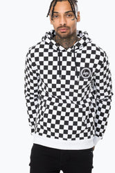 HYPE BLACK CHECK MEN'S PULLOVER HOODIE