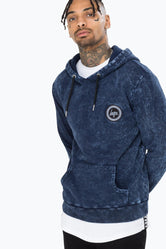 HYPE BLUE MARBLE MEN'S PULLOVER HOODIE