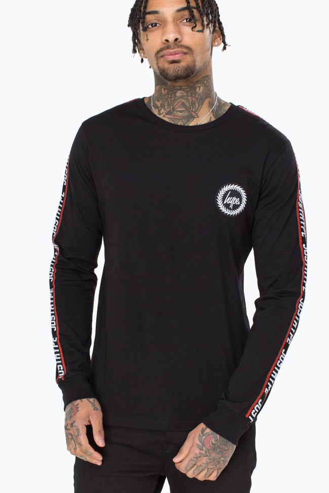 HYPE BLACK TAYLOR TAPE MENS L/S T-SHIRT