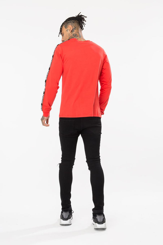 HYPE RED TAYLOR TAPE MENS L/S T-SHIRT