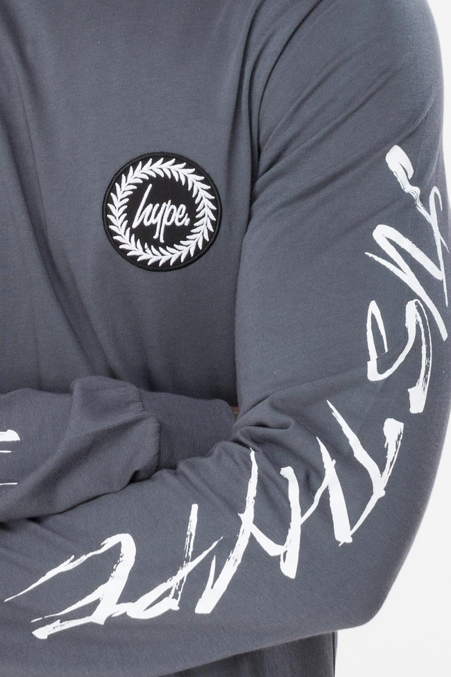 HYPE GREY HANDSTYLE MEN'S L/S T-SHIRT
