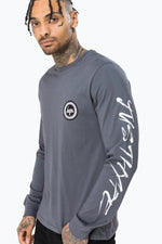 HYPE GREY HANDSTYLE MENS L/S T-SHIRT