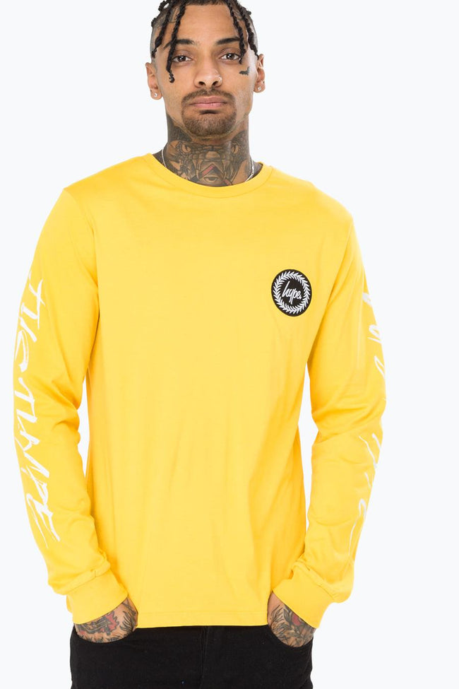 HYPE YELLOW HANDSTYLE MENS L/S T-SHIRT