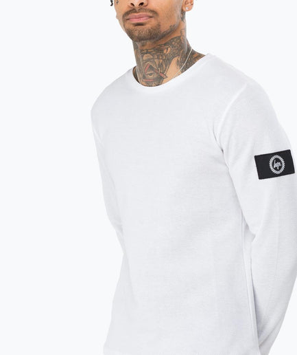 HYPE WHITE INSIGNIA MEN'S L/S T-SHIRT