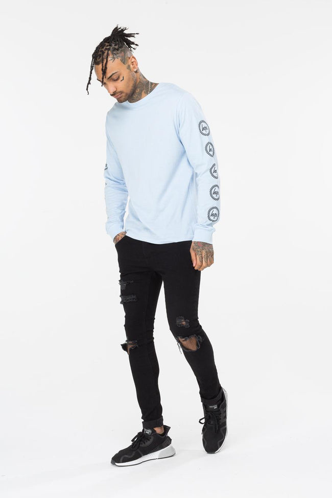 HYPE BLUE CREST MENS L/S T-SHIRT