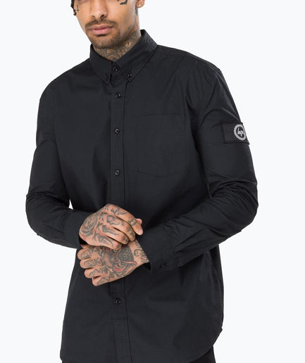 HYPE BLACK INSIGNIA MEN'S L/S T-SHIRT