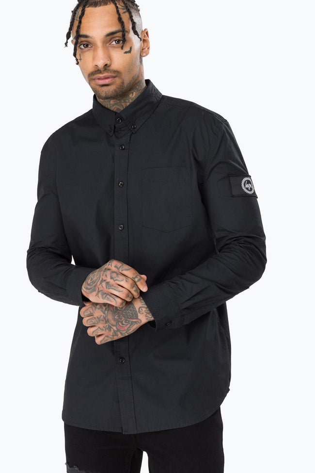 HYPE BLACK INSIGNIA MENS L/S T-SHIRT