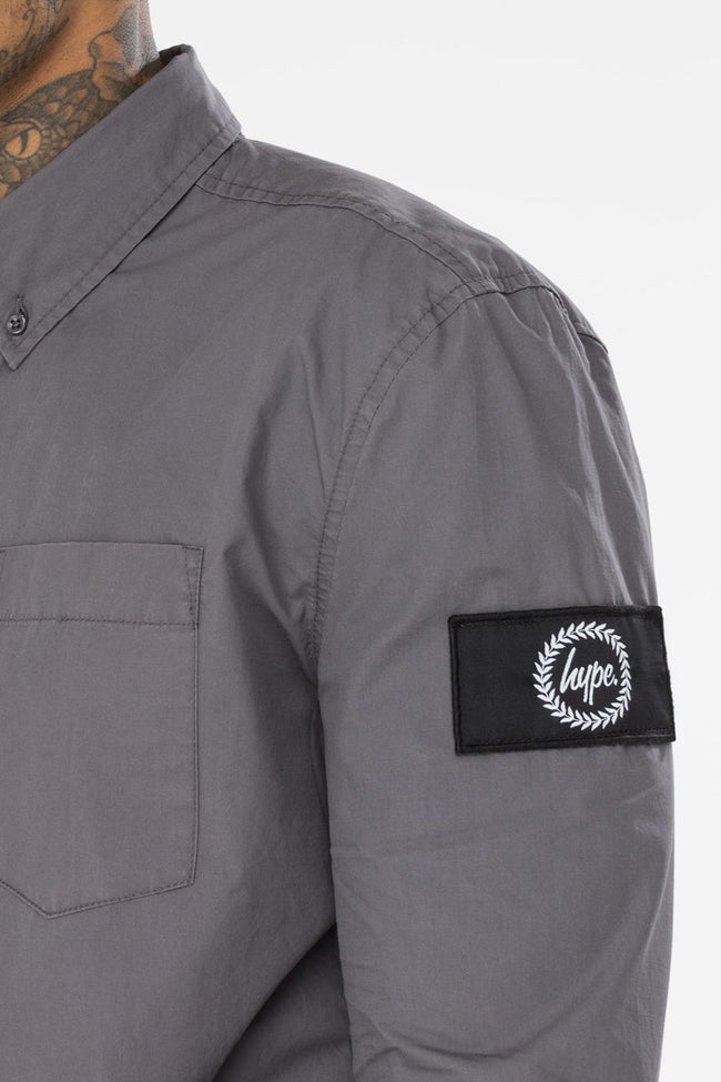 HYPE GREY INSIGNIA MEN'S SHIRT