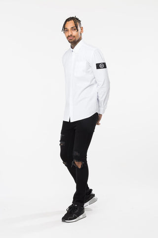HYPE WHITE INSIGNIA MENS SHIRT