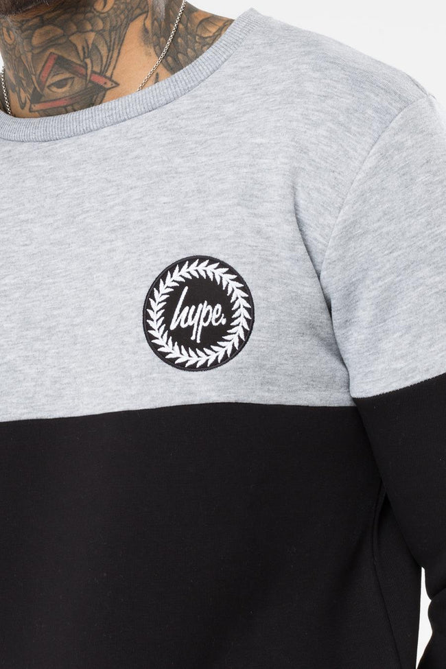 HYPE GREY BRADFORD MENS CREW NECK