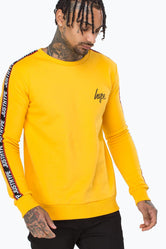 HYPE YELLOW TAYLOR TAPE MENS CREW NECK