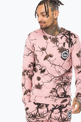 HYPE PINK REAL CAMO MENS CREW NECK