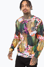 HYPE GOLDEN PALM MENS CREW NECK