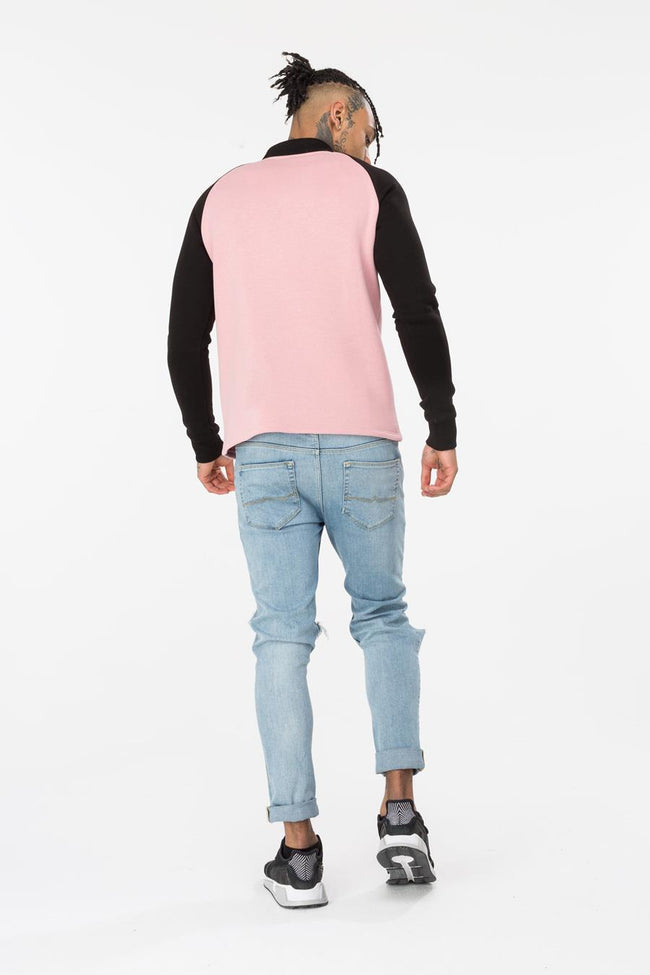 HYPE PINK BECKER MENS CREW NECK