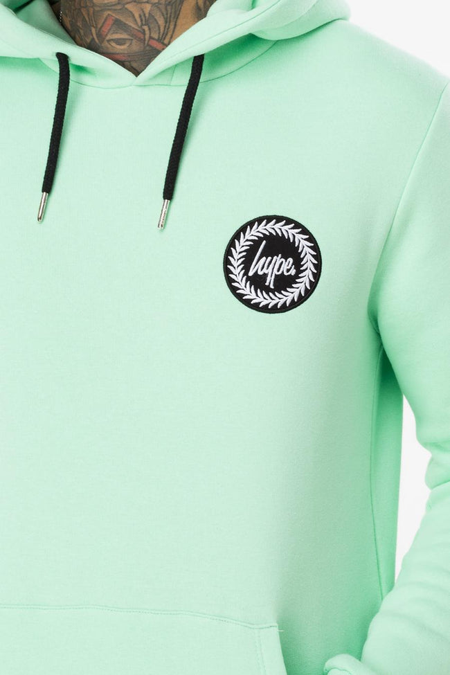 HYPE MINT CREST MENS PULLOVER HOODIE