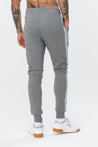 HYPE GREY STRIPE CREST MENS JOGGERS