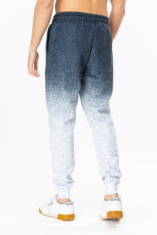 HYPE NAVY SPECKLE FADE MENS JOGGERS