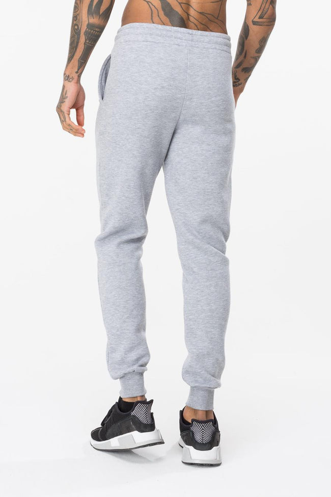 HYPE GREY SQUARE SCRIPT MENS JOGGERS