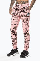 HYPE PINK REAL CAMO MEN'S JOGGERS