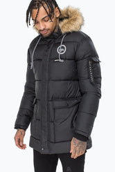 HYPE BLACK EXPLORER MENS PUFFER JACKET
