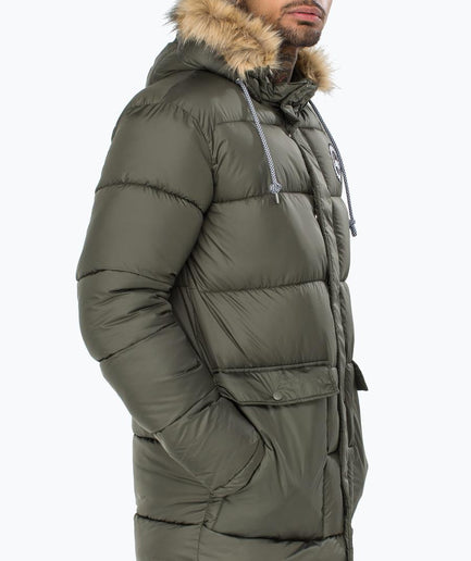 HYPE KHAKI EXPLORER MEN'S PUFFER JACKET