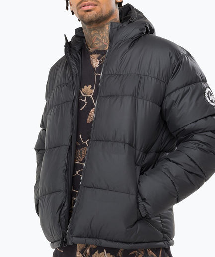 HYPE BLACK MONO MEN'S PUFFER JACKET