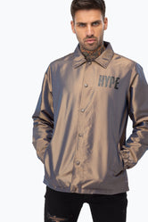 HYPE IRIDESCENT BLOCK HYPE MENS COACH JACKET
