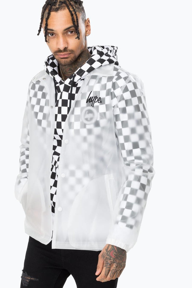 HYPE INVISIBLE SCRIPT MENS COACH JACKET