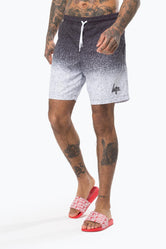 HYPE BLACK SPECKLE FADE MEN'S SWIM SHORTS