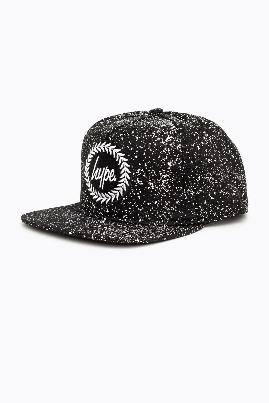 ca760c81086 HYPE BLACK SPECKLE CREST SNAPBACK HAT – JustHype ltd