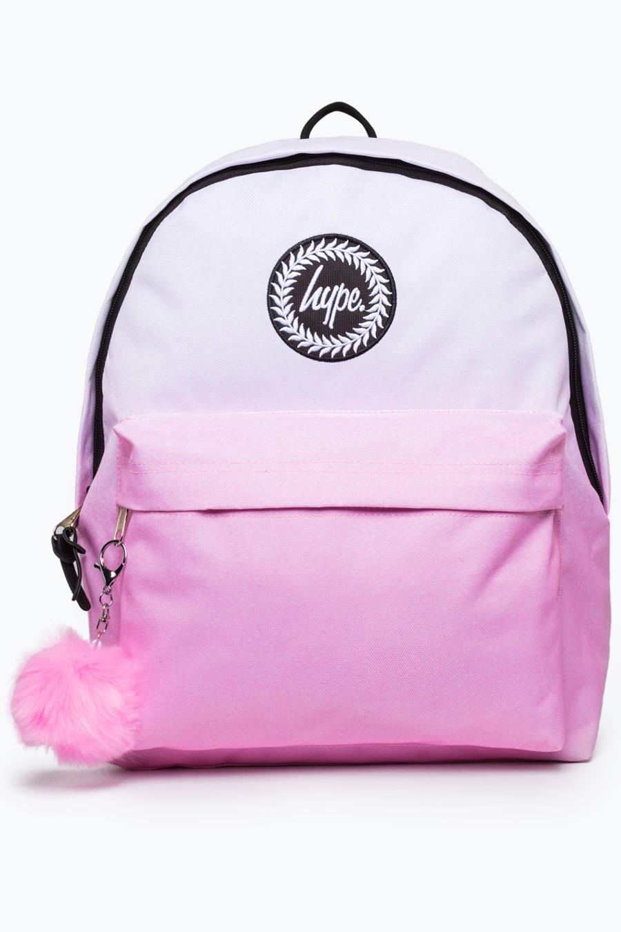 5646fc85616d HYPE BABY PINK BADGE BACKPACK – JustHype ltd