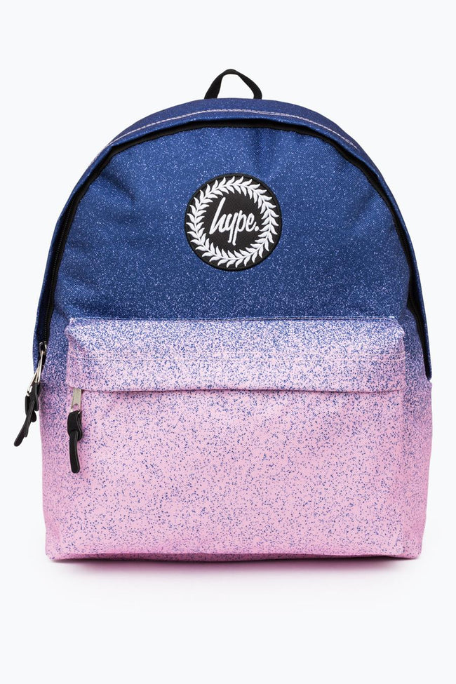 HYPE BLUE PINK SPECKLE FADE BACKPACK
