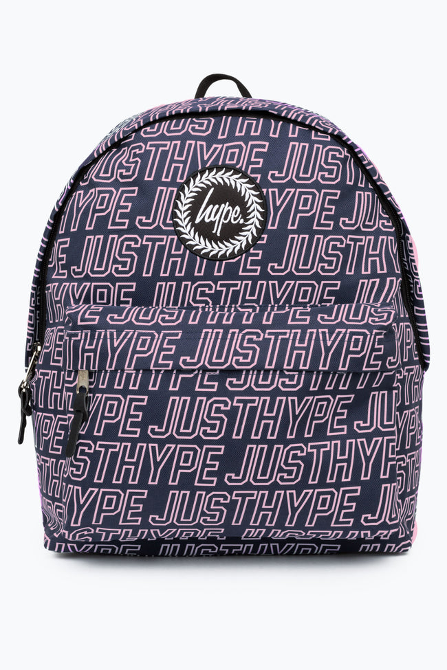 HYPE NAVY SPORTING OUTLINE BACKPACK