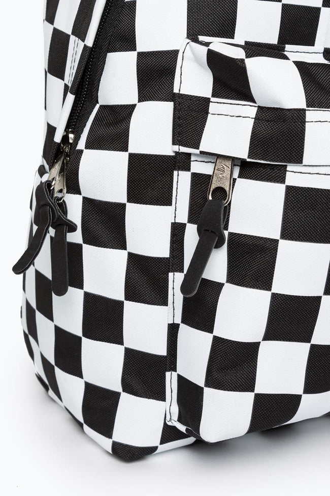 HYPE BLACK CHECKERBOARD BACKPACK