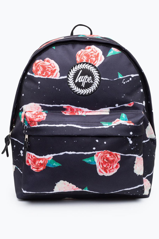 HYPE BLACK ROSE RIP BACKPACK