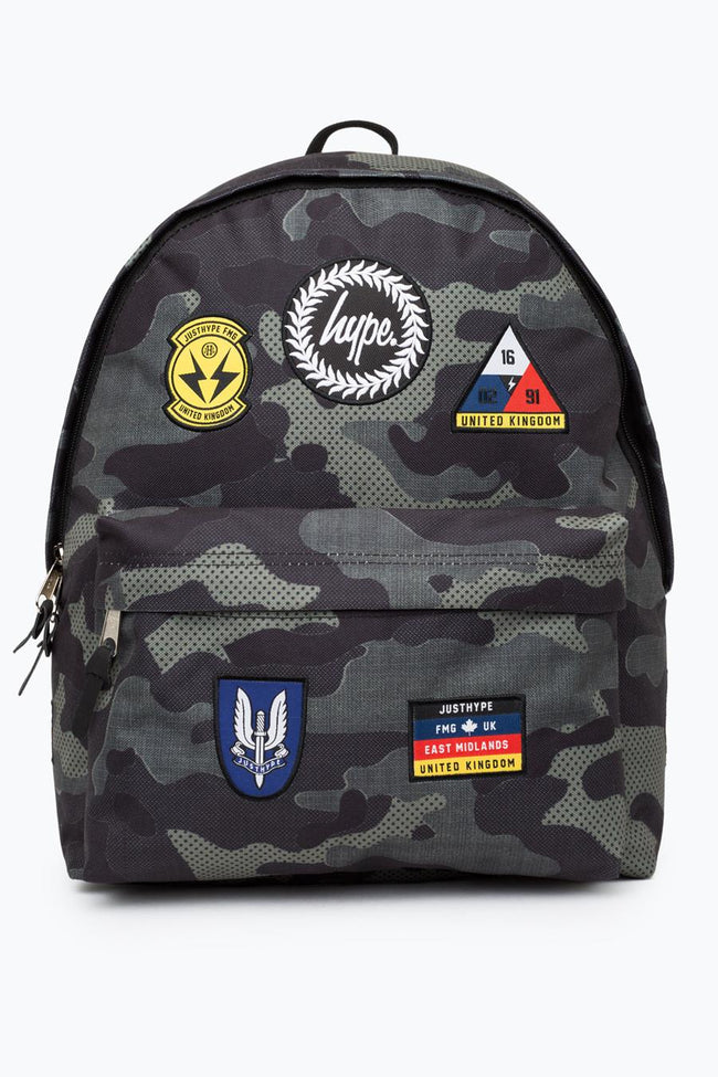 HYPE KHAKI CAMO PATCH BACKPACK