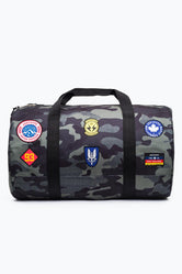 HYPE KHAKI CAMO PATCHES DUFFLE BAG