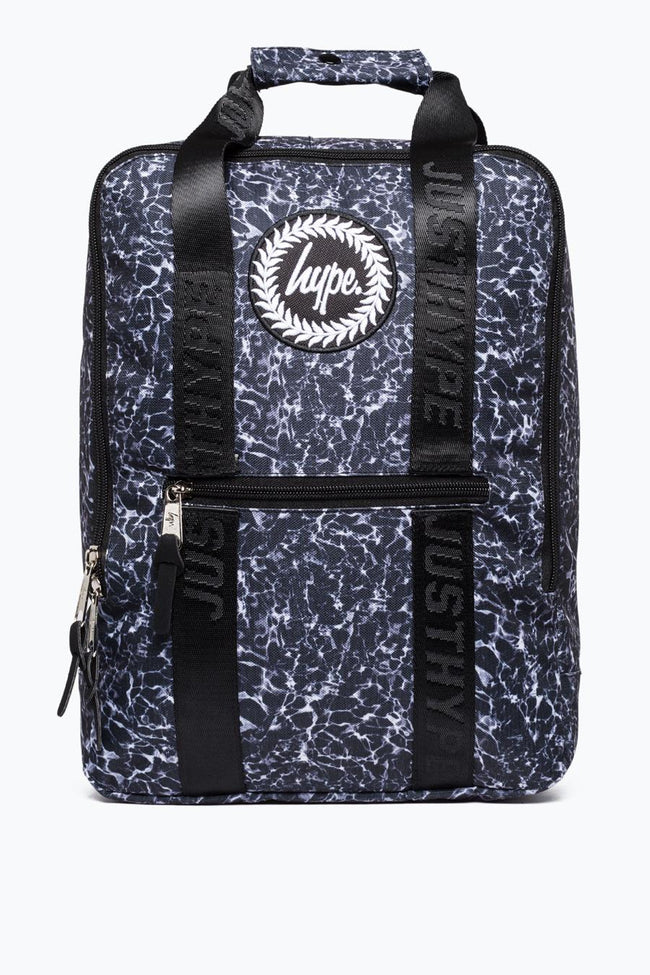 HYPE BLACK MONO POOL BOXY BACKPACK