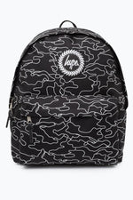 HYPE BLACK OUTLINE CAMO BACKPACK