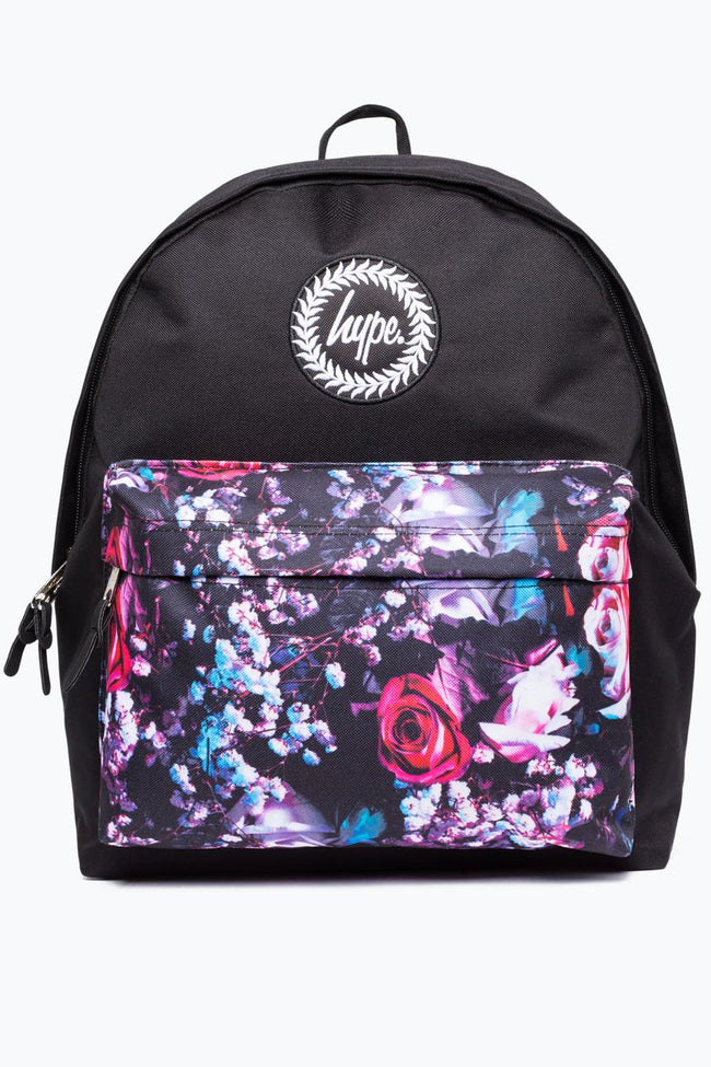 HYPE BLACK DOCKER ROSE POCKET BACKPACK