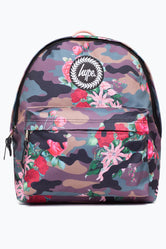HYPE KHAKI FLOWER CAMO BACKPACK